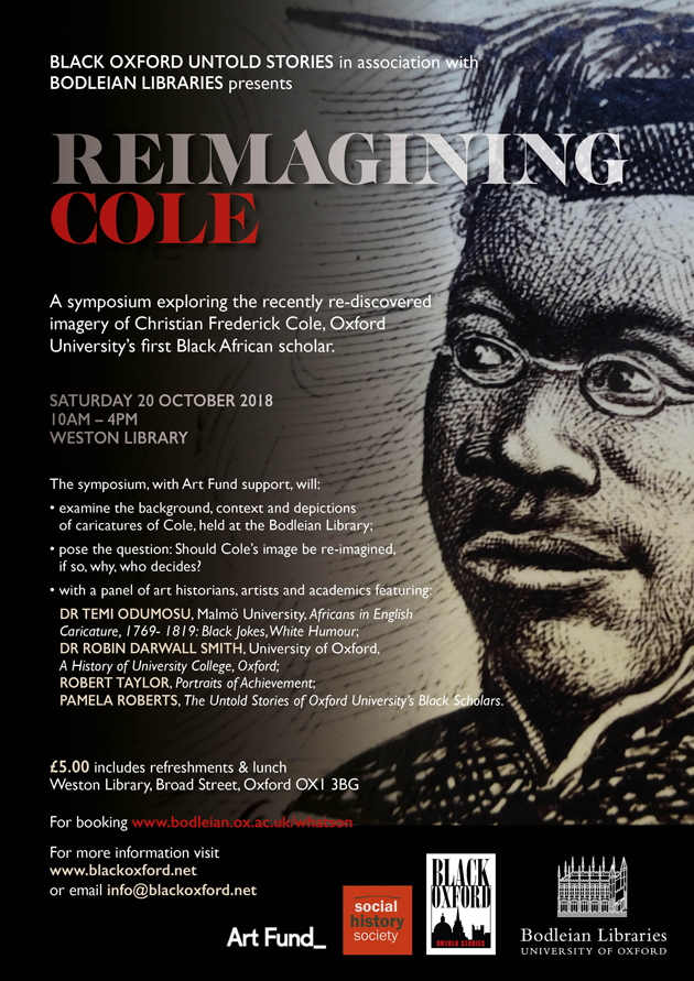 Reimagining Cole: Christian Frederick Cole, Oxford University's first Black African scholar
